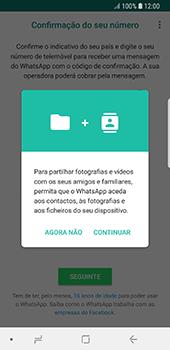 Samsung Galaxy S8 - Android Oreo - Aplicações - Como configurar o WhatsApp -  6