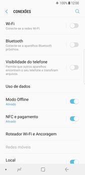 Samsung Galaxy S9 - Rede móvel - Como ativar e desativar o modo avião no seu aparelho - Etapa 6