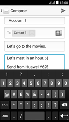 Huawei Ascend Y625 - Email - Sending an email message - Step 10