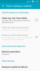 Samsung Galaxy A5 - Funções básicas - Como restaurar as configurações originais do seu aparelho - Etapa 7