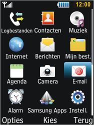 Samsung S5610 Primo - E-mail - e-mail versturen - Stap 2