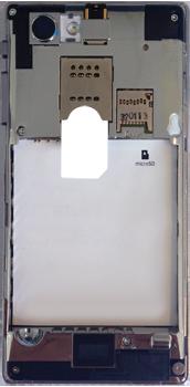 Sony Xperia J - Primeros pasos - Quitar y colocar la batería - Paso 4