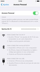 Apple iPhone iOS 10 - Wi-Fi - Como usar seu aparelho como um roteador de rede wi-fi - Etapa 8