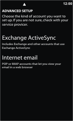 Nokia Lumia 800 - E-mail - Manual configuration - Step 8