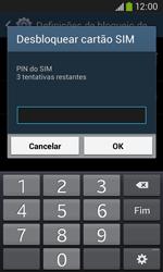 Samsung Galaxy Ace 3 LTE - Segurança - Como ativar o código PIN do cartão de telemóvel -  8