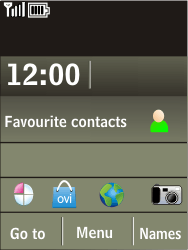 Nokia X3-02 - Voicemail - Manual configuration - Step 1