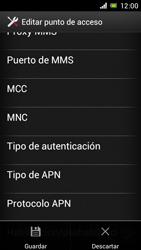 Sony Xperia J - Mensajería - Configurar el equipo para mensajes multimedia - Paso 16