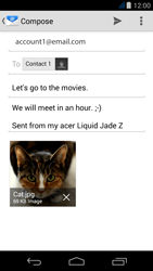 Acer Liquid Jade Z - Email - Sending an email message - Step 16