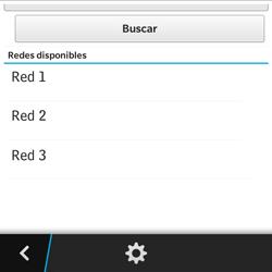 BlackBerry Q5 - Red - Seleccionar una red - Paso 9