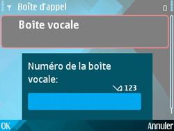 Nokia E71 - Messagerie vocale - configuration manuelle - Étape 7