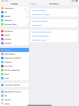 Apple ipad-pro-12-9-inch-2018-model-a1895 - Instellingen aanpassen - Fabrieksinstellingen terugzetten - Stap 5