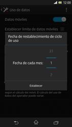Sony Xperia Z - Internet - Ver uso de datos - Paso 7