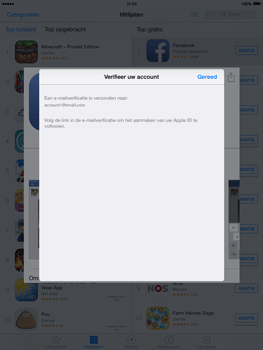 Apple iPad 4th generation iOS 8 - Applicaties - Account aanmaken - Stap 25