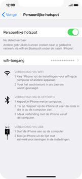 Apple iPhone X - WiFi - WiFi hotspot instellen - Stap 8