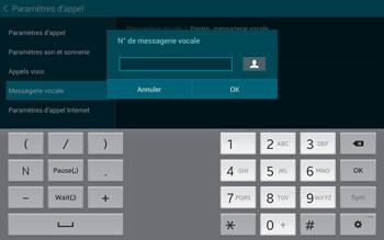 Samsung T805 Galaxy Tab S - Messagerie vocale - Configuration manuelle - Étape 9