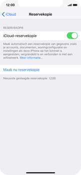 Apple iPhone XS - Data - Maak een back-up met je account - Stap 12
