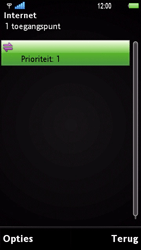 Sony Ericsson U1i Satio - Internet - Handmatig instellen - Stap 10