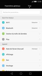 Huawei P8 - Wifi - configuration manuelle - Étape 2