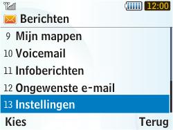 Samsung S3350 Chat 335 - Voicemail - Handmatig instellen - Stap 4
