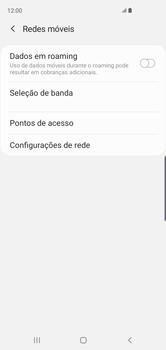 Samsung Galaxy S10 - Rede móvel - Como selecionar o tipo de rede adequada - Etapa 6