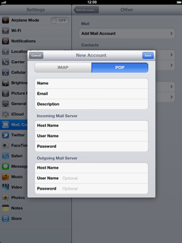 Apple The New iPad - E-mail - Manual configuration - Step 13