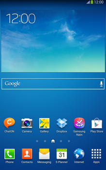 Samsung T315 Galaxy Tab 3 8-0 LTE - E-mail - Manual configuration - Step 1