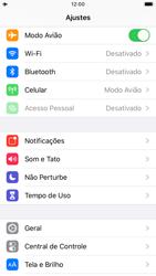 Apple iPhone 8 - iOS 13 - Rede móvel - Como ativar e desativar o modo avião no seu aparelho - Etapa 4