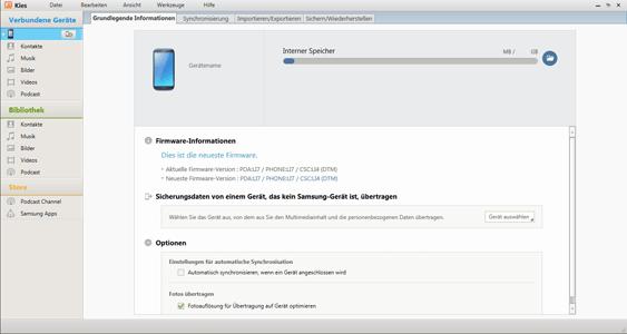 Samsung Galaxy S Plus - PC-Anbindung - Inhalte (Bilder, Videos, Musik) synchronisieren - Schritt 3