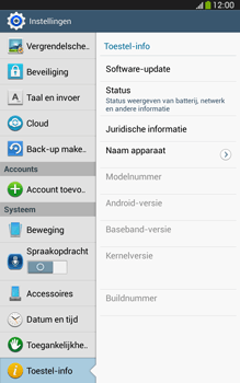 Samsung T315 Galaxy Tab 3 8-0 LTE - Software update - update installeren zonder PC - Stap 5