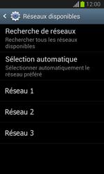 Samsung S7390 Galaxy Trend Lite - Réseau - Sélection manuelle du réseau - Étape 8