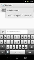 Sony Xperia L - Mensajería - Escribir y enviar un mensaje multimedia - Paso 10