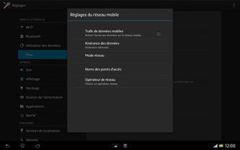 Sony SGP321 Xperia Tablet Z LTE - Internet - activer ou désactiver - Étape 6