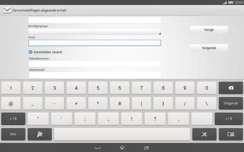 Sony Xperia Tablet Z2 (SGP521) - E-mail - e-mail instellen: IMAP (aanbevolen) - Stap 13