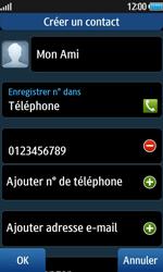Samsung Wave 2 - Contact, Appels, SMS/MMS - Ajouter un contact - Étape 10