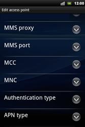 Sony Ericsson Xperia Mini Pro - Mms - Manual configuration - Step 10