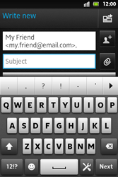 Sony ST27i Xperia Go - Email - Sending an email message - Step 7
