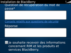 BlackBerry 9900 Bold Touch - BlackBerry activation - BlackBerry ID activation - Étape 10