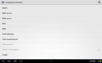Samsung P5100 Galaxy Tab 2 10-1 - Internet - Handmatig instellen - Stap 11