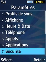 Samsung Solid 271 - Sécuriser votre mobile - Personnaliser le code PIN de votre carte SIM - Étape 4