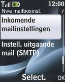 Nokia 2330 classic - E-mail - Handmatig instellen - Stap 18