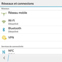 BlackBerry Classic - WiFi et Bluetooth - Configuration manuelle - Étape 5