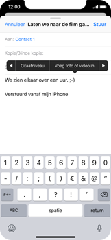Apple iPhone X - iOS 12 - E-mail - e-mail versturen - Stap 9