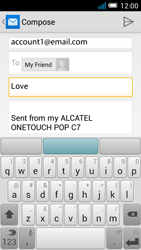 Alcatel Pop C7 - Email - Sending an email message - Step 8