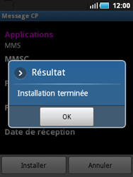Samsung S5570 Galaxy Mini - MMS - configuration automatique - Étape 9