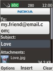 Nokia 6303i classic - E-mail - Sending emails - Step 14