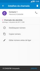 Motorola Moto C Plus - Chamadas - Como bloquear chamadas de um número -  8