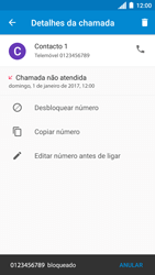 Motorola Moto C Plus - Chamadas - Bloquear chamadas de um número -  8