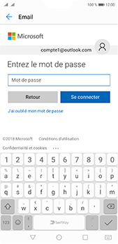Huawei P20 Pro - E-mail - 032c. Email wizard - Outlook - Étape 8