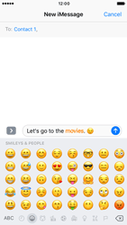 Apple iPhone 7 - iOS features - Send iMessage - Step 14