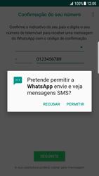 Samsung Galaxy S7 Edge - Android Nougat - Aplicações - Como configurar o WhatsApp -  14